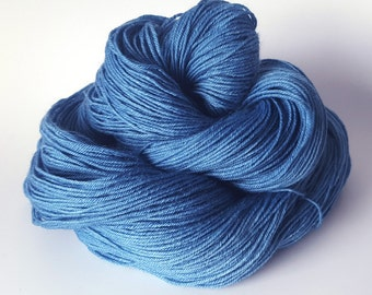 Plant Dyed Yarn, Natural Blue Indigo Sock Yarn