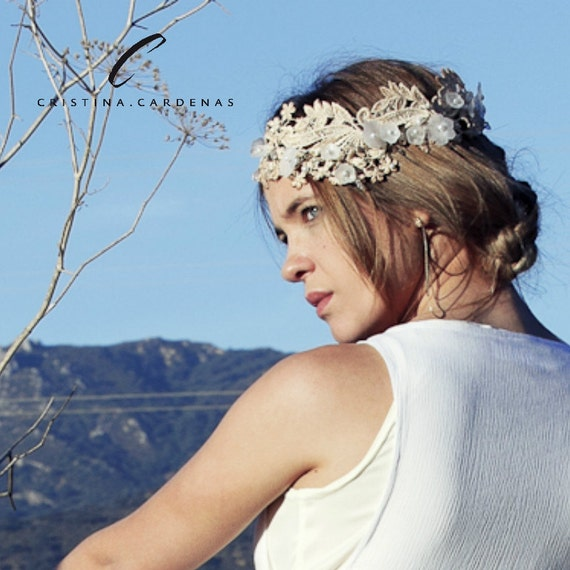 Wedding lace head piece SOESE