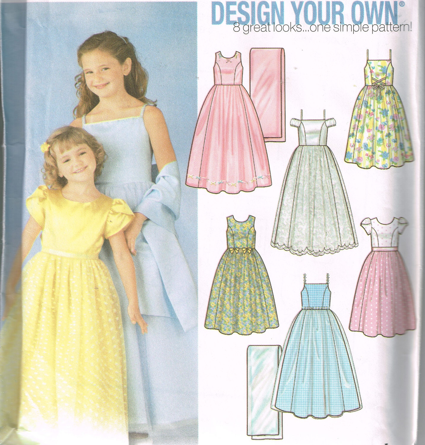 Design your own flower girl bridesmaid dress girls dress pattern sold by patternsfromgrandma ombrellifo Gallery