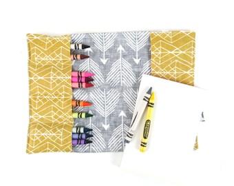 Crayon Notebook - Good Shot - coloring book, activity pad, crayon wallet, notepad, artfolio, spoonflower