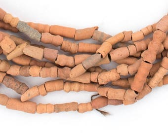150 Mali Clay Beads Red - African Clay Beads - Jewelry Making Supplies - Wholesale African Seed Beads - Made in Mali (MALI-CLAY-RED-206)