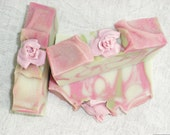 Love Spell Soap / Pink Soap / Spring Soap / Flower Floral Feminine Soap / Cold Process Handmade Soap