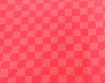 Red checkered fabric.  1 yard.  Sewing. Crafting. Quilting.