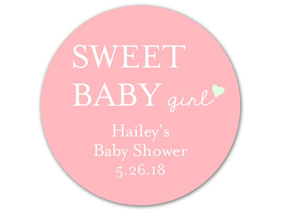 baby shower labels custom baby shower stickers baby shower favor labels sweet baby girl stickers favor bag labels from