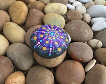 Cool Dotty Mandala Rock