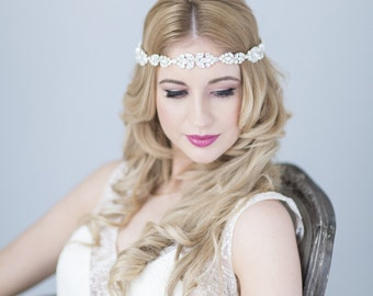 Goddess bridal halo headdress