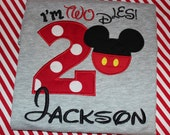2nd birthday Mickey Mouse birthday shirt for boy- I'm Twodles