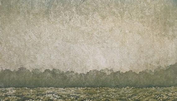 Woodblock Print Treeline No. 8 Original Limited Edition OOAK Reduction Moku Hanga Block Print Landscape