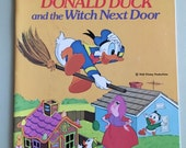 """Walt Disney's """"Donald Duck and the Witch Next Door"""" paperback Little Golden Book 1974"""