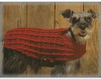 Crochet Dog Sweater Pattern - 4 Sizes - Pattern CR429197 - Pattern in English