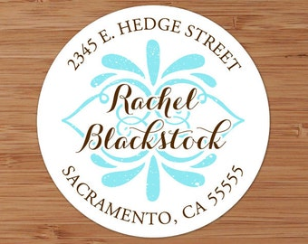 Shabby Flourish - Custom Address Labels or Stickers
