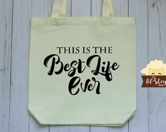 Tote Bag/This is The Best Life Ever/JW Gift/Tote Bag/Pioneer Gift/Book Bag