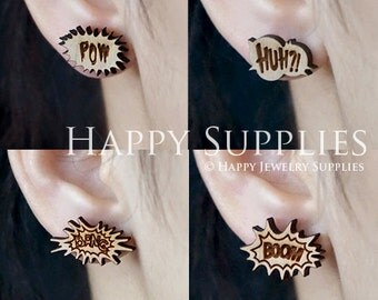 4pcs Mini (SMN91-94) DIY Laser Cut Wooden Earring Charms - SWC Series