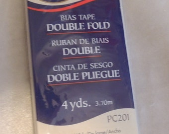 Bias Tape Wright's Double Fold Unopened Package Black 4 Yds