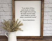 Louis Armstrong Wonderful World Lyrics Hand Painted Sign 12x16