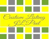 Custom Listing for JLPeel  Purdy's Closet