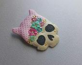 Leopard Girl Skull brooch no. 2