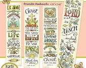 50% OFF SALE Easter Bible Bookmarks Full Color Bible Journaling Tags INSTANT Download Scripture Digital Printable Download Christian Religio
