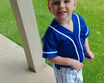 Baseball Uniforms for Photo Prop Or dress up, 3 piece,  Made to Order in Children's