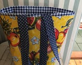 custom oilcloth tote for Gina