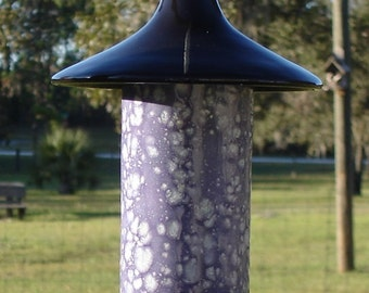 Ceramic Bird Feeder, Grape Divine with Black