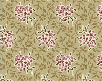 Civil War Fabric Tan Floral Pink Floral Dear Jane 2 32718 3
