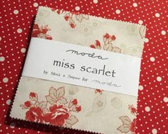 Miss Scarlet Charm Pack Moda by Minick and Simpson