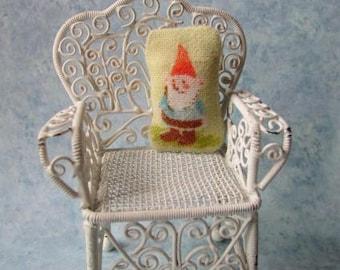 ooak dollhouse pillow Miniature Gnome Pillow roombox cottage
