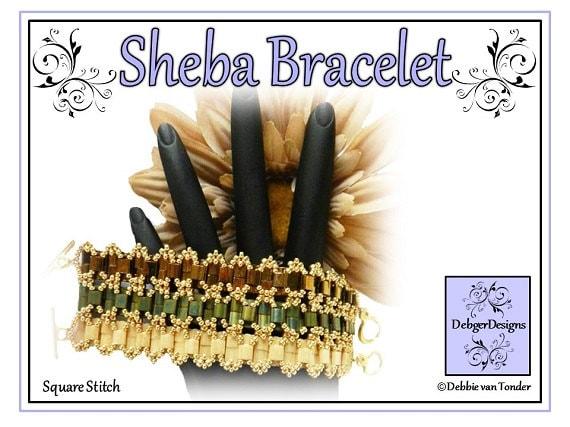 Tila Beading Pattern, Tutorial, Bracelet - SHEBA