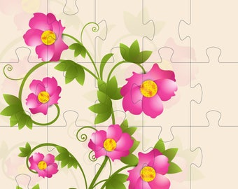 Jigsw PuzzleJ1-clipart-Background-Flowers-Gift Cards-tag-Digital Clipart-Website-Banner-Notebook-Scrapbook