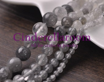 Wholesale 40/50/60/100pcs 4mm 6mm 8mm 10mm Multi-inclusions Crystal Round Natural Gemstone Loose Spacer Beads DIY Jewelry Findings SKU BS037