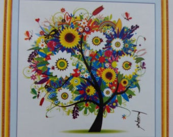 Needlework 100% Accurate Printed DIY Cross Stitch Kit - Tree - Summer -