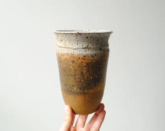 Vintage Handmade Vase, Stoneware Studio Pottery Flower Vase