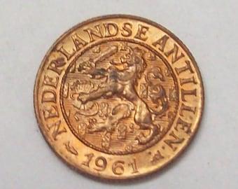 Netherlands Antilles 1961 1 Cent Curacao