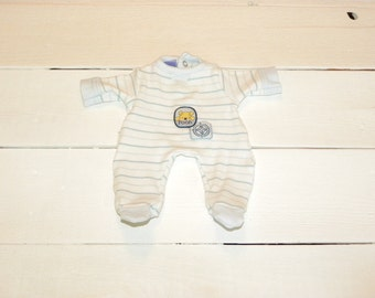 Striped Footed Sleeper - 12 inch boy doll clothes