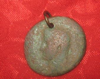 Large 28MM Authentic Ancient  Roman Coin Pendant Necklace