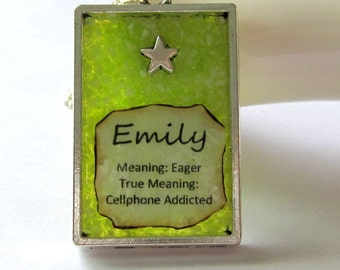 Emily Name and Meaning Necklace - Cellphone Addict Gift