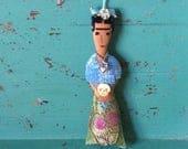 Frida Kahlo Doll - Frida Kahlo Art Doll - Frida Doll - Folk Art Inspired - Frida Ornament - Folk Art Doll - Mexican Folk-Art Inspired