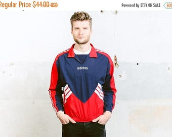 WEEKEND SALE . Vintage ADIDAS Spellout Smock Jacket . 90s Coat Anorak Jacket Outerwear Festival Jacket Mens  Bold Sports Jacket Activewear .