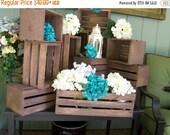 ON SALE Wedding centerpiece, table center piece decoration ,Wood Crates , Rustic wedding ,wedding reception , country wedding , wedding deco