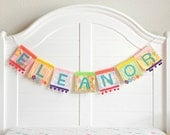 Name Sign For Kids / Custom Name Sign Nursery / Baby Name Banner / Name Sign for Nursery /  Baby Name Art / Fabric Name Banner / Baby Banner