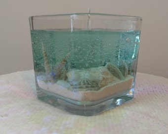 Square, Scented, Seascape Gel Candle