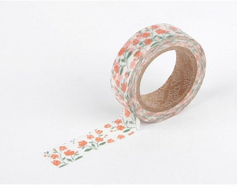 Rose garden  printed Korean washi tape  for scrapbooking, decorations (15mm x 10m)