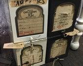Antique Metal File Boxes - Drugpak Prescription File Bozes