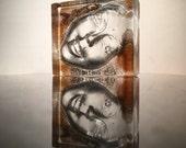 Cast Glass Face Sculpture, The Void, Figure Art Crystal