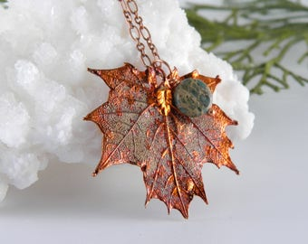 Small Maple Leaf Necklace with 18 inch Chain