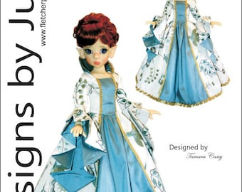 Enchanted Court Gown Pattern for 46cm Kaye Wiggs MSD BJD Dolls