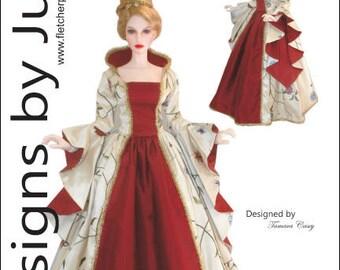 Enchanted Court Gown Pattern for 1/3 Iplehouse EID BJD Dolls