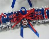 Chicago Cubs handmade wedding garters sports garter toss