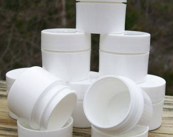 Special Listing For Tia Monet:  1/8 ounce White Plastic Jars